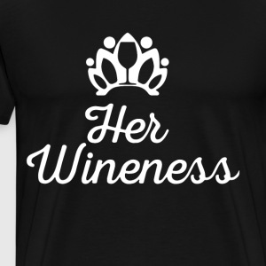 HER WINENESS - Men's Premium T-Shirt