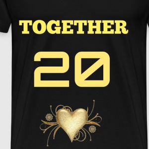 TOGETHER SINCE (MALE) - Men's Premium T-Shirt