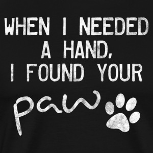 Found a paw of a cat or dog - Men's Premium T-Shirt