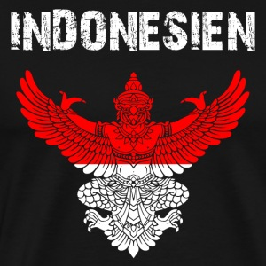 Nation-Shirt Indonesia Garuda GER - Men's Premium T-Shirt