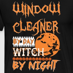 Window Cleaner By Day Witch By Night Halloween - Men's Premium T-Shirt