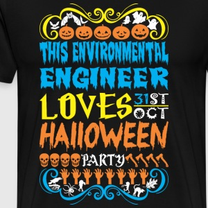 This Environmentl Engineer Love 31st Oct Halloween - Men's Premium T-Shirt
