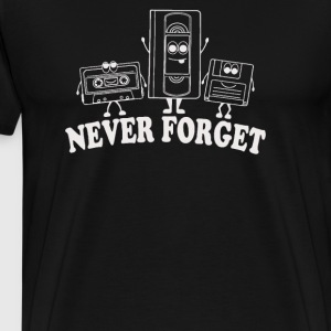 Never Forget Retro VHS Floppy Disc Cassette - Men's Premium T-Shirt