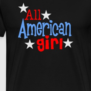 American Girl Fun Cute Flag Patriotic - Men's Premium T-Shirt