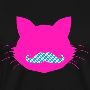 Cat Head pink - Bavaria Beard - Men's Premium T-Shirt