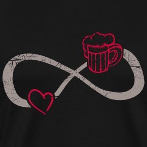 Infinite Love ∞ I Love Beer ∞ Favorite Drink - Men's Premium T-Shirt