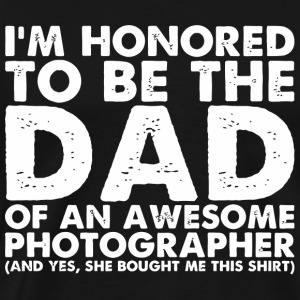 Photographer - Mens Dad Of An Awesome Photograph - Men's Premium T-Shirt