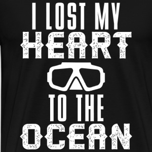Scuba diving - Lost HEART to the OCEAN Scuba Div - Men's Premium T-Shirt