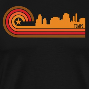 Retro Style Tempe Arizona Skyline - Men's Premium T-Shirt
