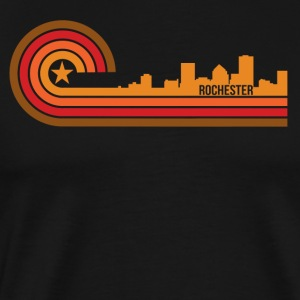 Retro Style Rochester New York Skyline - Men's Premium T-Shirt