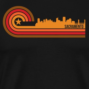 Retro Style Sacramento California Skyline - Men's Premium T-Shirt