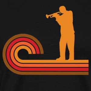 Retro Style Trumpet Player Silhouette Music - Men's Premium T-Shirt