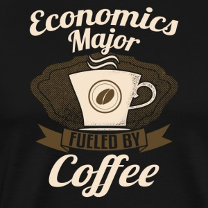 Economics Major Fueled By Coffee - Men's Premium T-Shirt