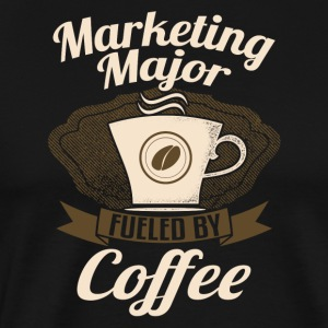 Marketing Major Fueled By Coffee - Men's Premium T-Shirt