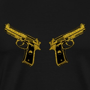 Golden Gun - Pistol Weapon Fire Ammo - Men's Premium T-Shirt