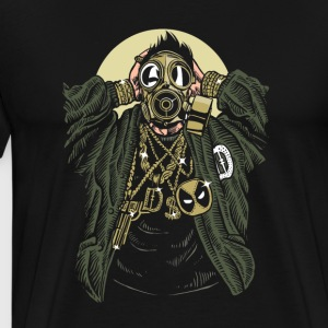 Gasmask Gangsta. The crazy bling bling guy. - Men's Premium T-Shirt