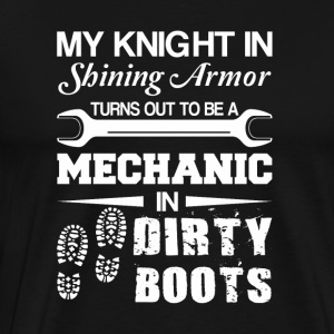 Knight Shining Armour Is Mechanic Dirty Boots - Men's Premium T-Shirt
