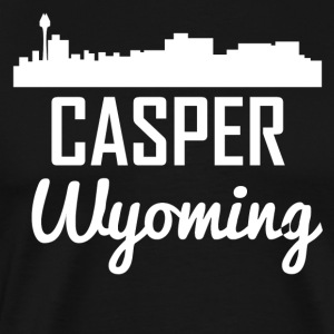 Casper Wyoming Skyline - Men's Premium T-Shirt