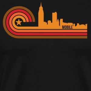 Retro Style Mobile Alabama Skyline - Men's Premium T-Shirt