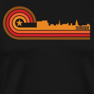 Retro Style Dubuque Iowa Skyline - Men's Premium T-Shirt