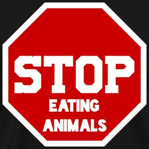 STOP eating Animals - Men's Premium T-Shirt