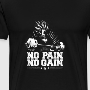 Gohan Super Saiyan No Pain No Gain - Men's Premium T-Shirt