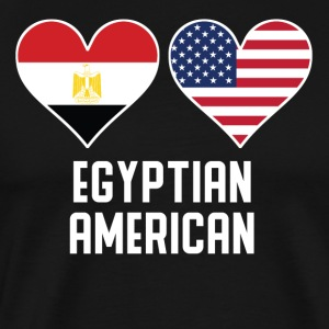 Egyptian American Heart Flags - Men's Premium T-Shirt