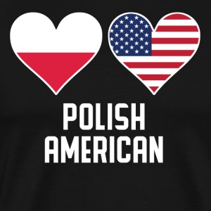 Polish American Heart Flags - Men's Premium T-Shirt