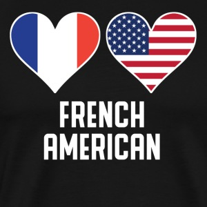 French American Heart Flags - Men's Premium T-Shirt
