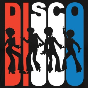 Red White And Blue Disco Dancers - Men's Premium T-Shirt