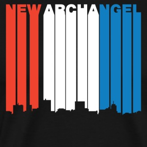 Red White And Blue New Archangel Alaska Skyline - Men's Premium T-Shirt