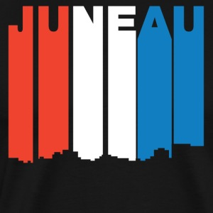 Red White And Blue Juneau Alaska Skyline - Men's Premium T-Shirt