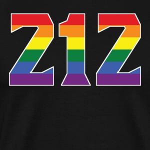 Gay Pride 212 Manhattan Area Code - Men's Premium T-Shirt