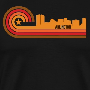 Retro Style Arlington Texas Skyline - Men's Premium T-Shirt