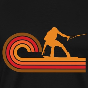 Retro Style Wakeboarder Silhouette Wakeboarding - Men's Premium T-Shirt