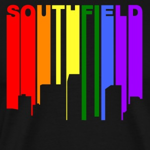 Southfield Michigan Gay Pride Rainbow Skyline - Men's Premium T-Shirt