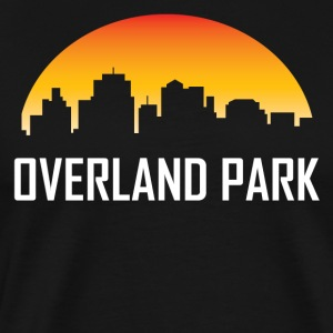 Overland Park Kansas Sunset Skyline - Men's Premium T-Shirt