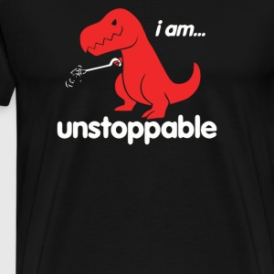 I Am Unstoppable Funny T Rex Dinosaur - Men's Premium T-Shirt