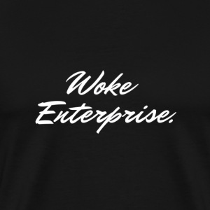 Woke Enterprise Script Logo - Men's Premium T-Shirt