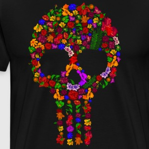 Floral Sugar Skull - Men's Premium T-Shirt