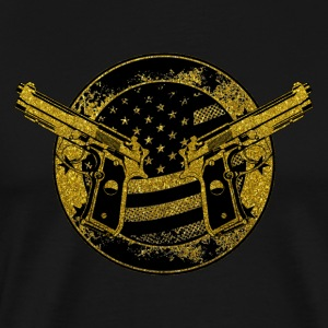 American Gun Owner Emblem - United States Patriot - Men's Premium T-Shirt
