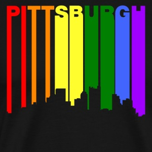 Pittsburgh Pennsylvania Gay Pride Skyline - Men's Premium T-Shirt