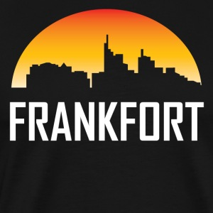 Frankfort Kentucky Sunset Skyline - Men's Premium T-Shirt