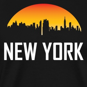New York City Sunset Skyline - Men's Premium T-Shirt