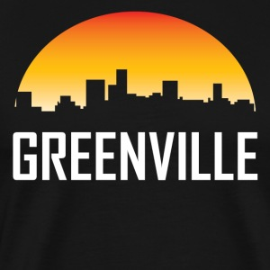 Greenville South Carolina Sunset Skyline - Men's Premium T-Shirt