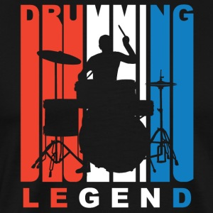 Red White And Blue Drumming Legend - Men's Premium T-Shirt