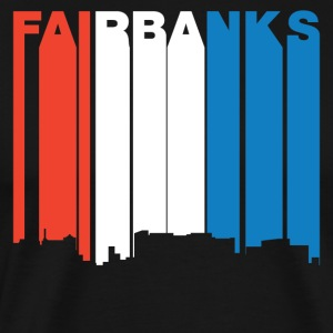 Red White And Blue Fairbanks Alaska Skyline - Men's Premium T-Shirt