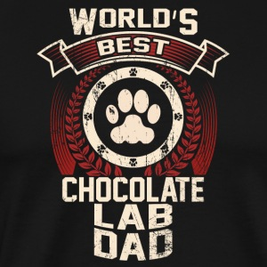 World's Best Chocolate Lab Dad - Men's Premium T-Shirt