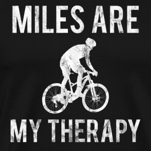 MILES ARE MY THERAPY - Men's Premium T-Shirt
