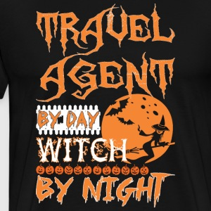 Travel Agent By Day Witch By Night Halloween - Men's Premium T-Shirt
